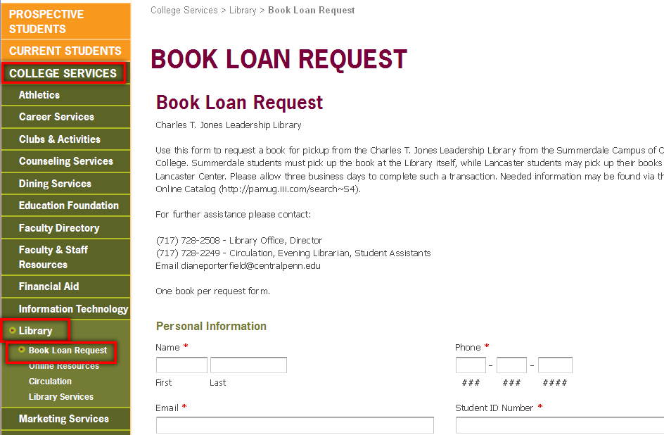 Mod1 Book Loan Request
